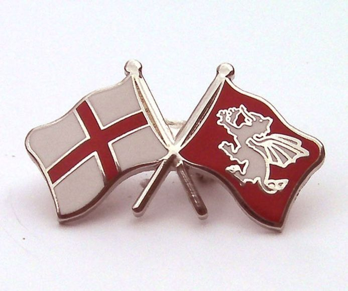 White Dragon and St George Cross England Lapel Badge